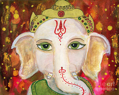 Painting - Ganesh by AnaLisa Rutstein