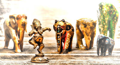 Photograph - Ganesh Dream by Olivier Le Queinec