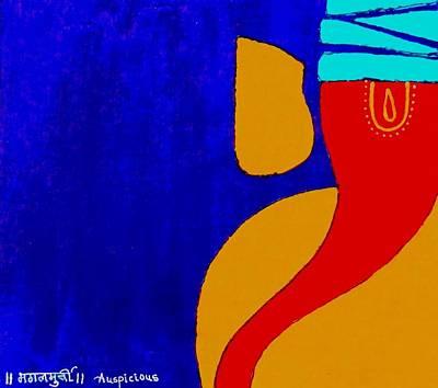 4 Ganesh Mangalmurti Art Print