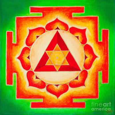 Ganesh Yantra Is A Powerful Tool That Removes All The Obstacles Art Print by Raimond Klavins