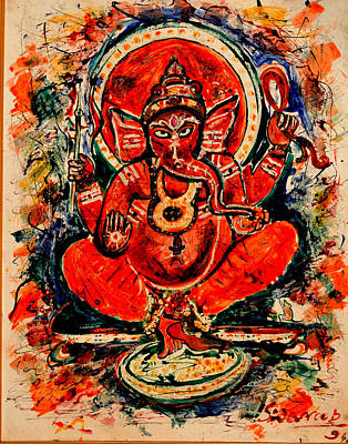 Painting - Ganesha-4 by Anand Swaroop Manchiraju