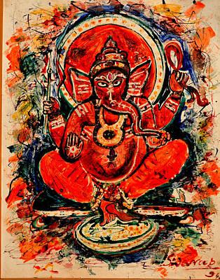 Painting - Ganesha-4 by Anand Swaroop Manchiraju