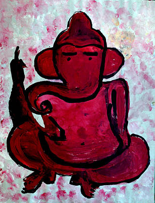 Painting - Ganesha-a-13 by Anand Swaroop Manchiraju