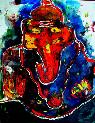 Painting - Ganesha-a15 by Anand Swaroop Manchiraju