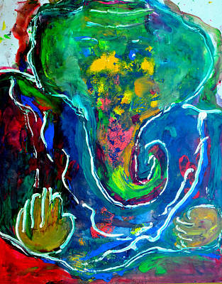Painting - Ganesha-a16 by Anand Swaroop Manchiraju