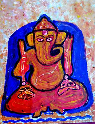 Painting - Ganesha-a20 by Anand Swaroop Manchiraju