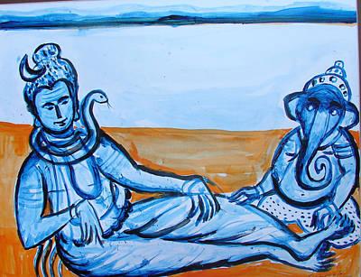Painting - Ganesha-a5 by Anand Swaroop Manchiraju