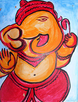 Painting - Ganesha-a8 by Anand Swaroop Manchiraju