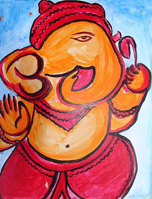 Painting - Ganesha-a8 by Anand Swaroop Manchiraju