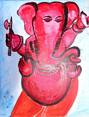 Painting - Ganesha-a9 by Anand Swaroop Manchiraju