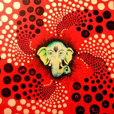 Wall Art - Painting - Ganesha by Alicia Post