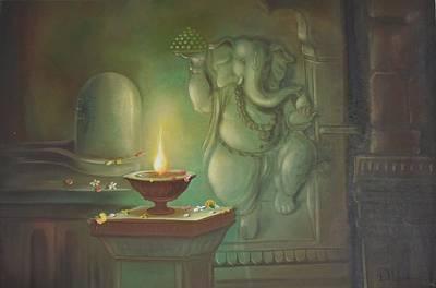 Lord Ganesha Painting - Ganesha Buddhipriya by Durshit Bhaskar