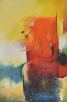 Lord Ganesha Painting - Ganesha Devendrashika by Durshit Bhaskar