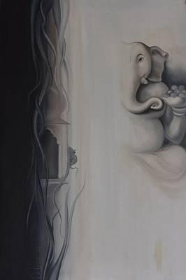 Ganesha Divine Art Print by Durshit Bhaskar