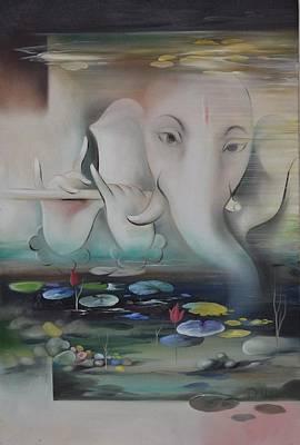 Lord Ganesha Painting - Ganesha Ganadhakshya by Durshit Bhaskar