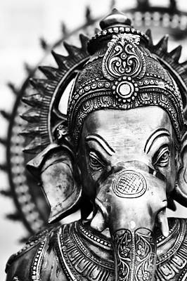 Photograph - Ganesha Monochrome by Tim Gainey