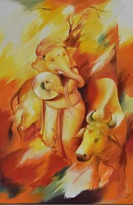 Ganesha Mrityuanjaya Art Print by Durshit Bhaskar