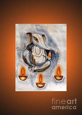 Handmade Painting - Ganesha by Purnima Jain