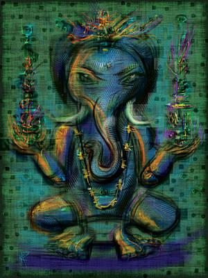 Ganesha Too Art Print by Russell Pierce