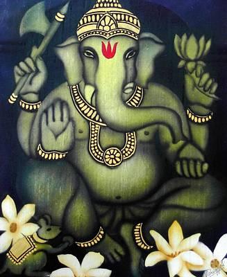 Vinayaka Painting - Ganesha by Vishwajyoti Mohrhoff