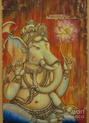 Modern Ganesha Painting - Ganesha by Yuliya Glavnaya