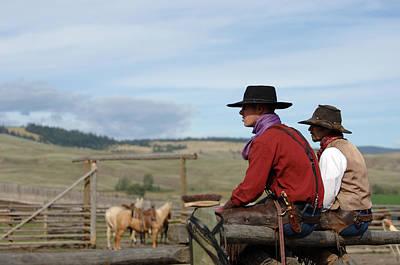 Wall Art - Photograph - Gang Ranch Cowboys by Lee Raine