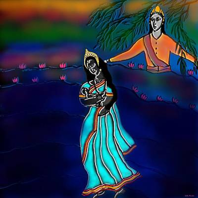 Digital Art - Ganga Devi And Santhanu by Latha Gokuldas Panicker