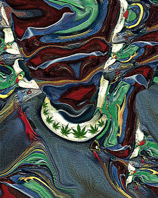 Digital Art - Ganja Gal by Ed Meredith