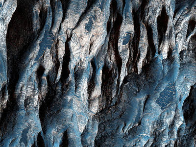 Galactic Painting - Ganges Chasma In Mars by Celestial Images