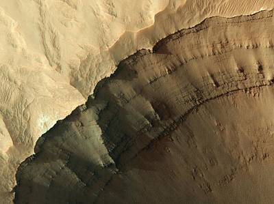 Ganges Photograph - Ganges Chasma Valley Wall by Nasa/jpl/university Of Arizona/science Photo Library