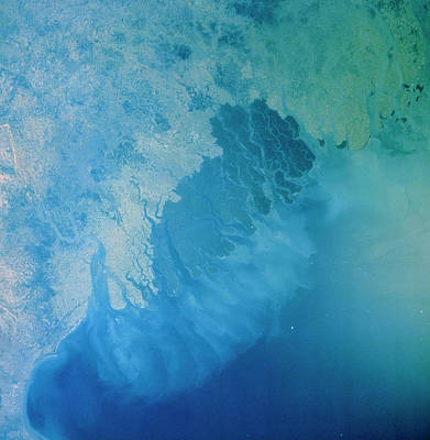 Ganges Photograph - Ganges Delta Region by Nasa/science Photo Library