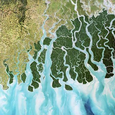 Ganges Photograph - Ganges River Delta by Planetobserver