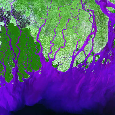 Photograph - Ganges River Delta by USGS Landsat