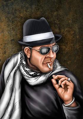 Gangster Portrait Art Print