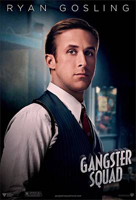 Ryan Gosling Photograph - Gangster Squad Gosling by Movie Poster Prints