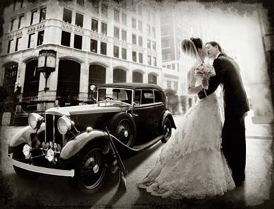Moscow Wall Art - Photograph - Gangster Wedding by Dmitry Laudin