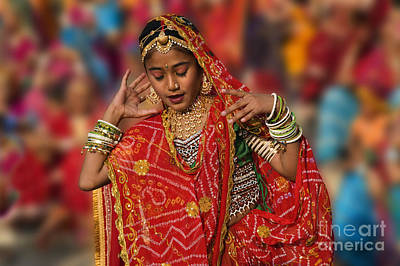 Photograph - Gangur Fesitval Dancer - Udaipur India by Craig Lovell