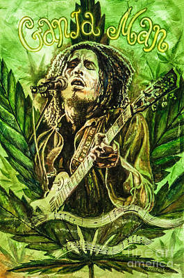 Ganja Man Art Print by Igor Postash
