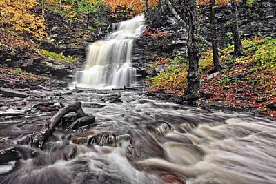 Beauty Photograph - Ganoga Waterfall Ricketts Glen by Marcia Colelli