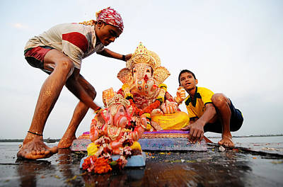 Photograph - Ganpati Prccession by Money Sharma