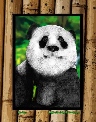 Giant Panda Mixed Media - Gaogao by Christopher Korte