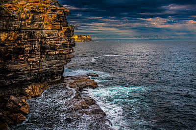 Photograph - Gap Bluff Sunset by Harry Spitz