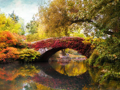 Colorful Leaves Photograph - Gapstow Bridge  by Jessica Jenney