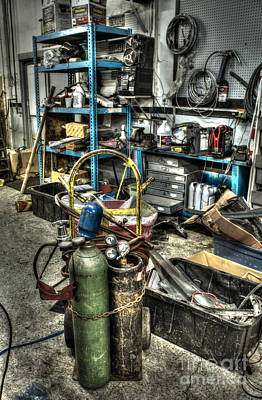 Two Wheeler Photograph - Garage Mentality by Jimmy Ostgard