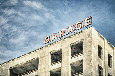 Sunny Photograph - Garage by Scott Norris