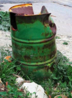 Photograph - Garbage Bin - Fractalius by Doc Braham
