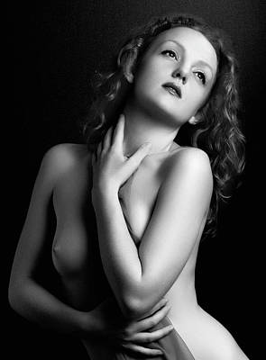 Retro Photograph - Garbo Retro Style by Peter Turner
