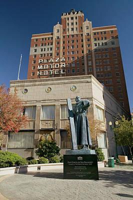 El Paso Photograph - Garcia De San Francisco Statue by Panoramic Images
