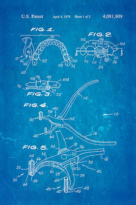 Garcia Orthodontic Pliers Patent Art 1978 Blueprint Art Print