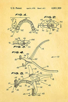 Photograph - Garcia Orthodontic Pliers Patent Art 1978 by Ian Monk